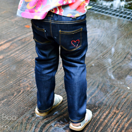 Peek-A Boo Skinny Jeans Digital Pattern ( Size 12 mo -10 years )