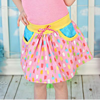 Peek-a-Boo Patterns Skip Along Skort