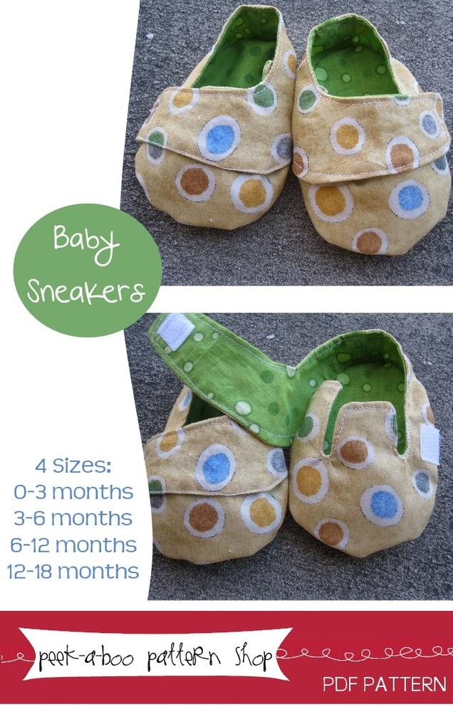 Peek-a-Boo Pattern Shop Sneakers Sneakers