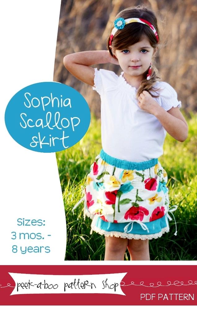 Peek-a-Boo Pattern Shop Sophia Scallop Skirt Downloadable Pattern Sophia Scallop Skirt