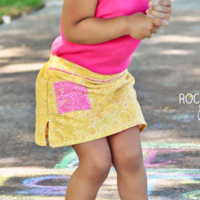Peek-A Boo Sporty Girl Skort Digital Pattern ( Size 12 mo -12 years )