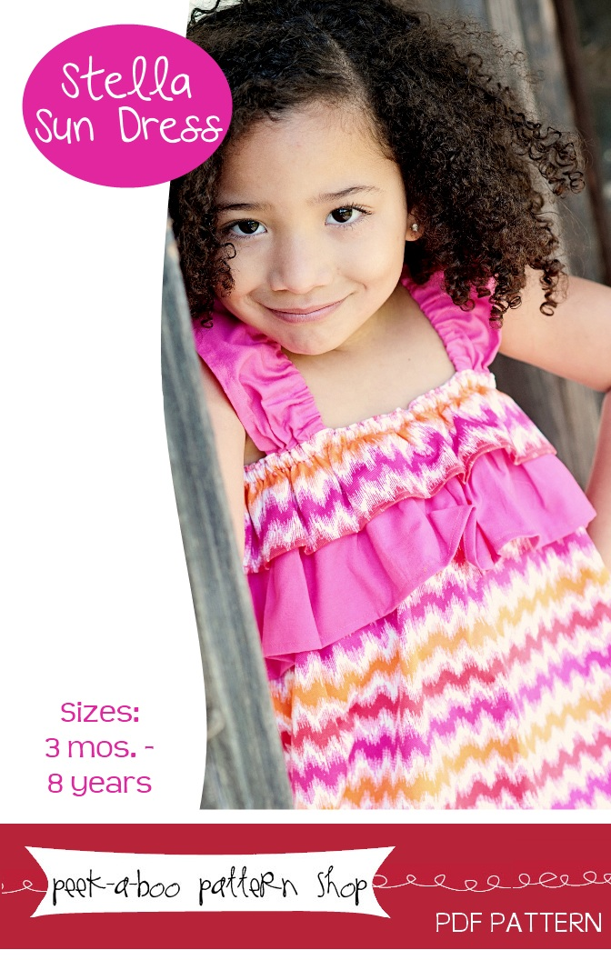 Peek-a-Boo Pattern Shop Stella Sun Dress Downloadable Pattern Stella Sun Dress