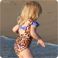 Peek-A Boo Sun n'Fun Swimsuit and Leotard Digital Pattern ( Size 3 mo -12 years )