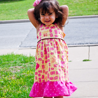 Peek-A Boo Susie Sun Dress Digital Pattern ( Size 3 mo -8 years )