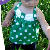 Peek-A Boo Sweetheart Halter Digital Pattern ( Size 6 mo -12 years )