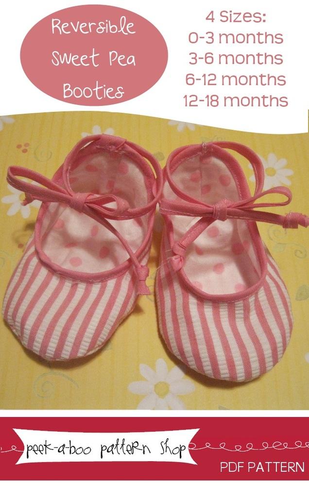 Peek-a-Boo Pattern Shop Sweet Pea Booties Sweet Pea Booties