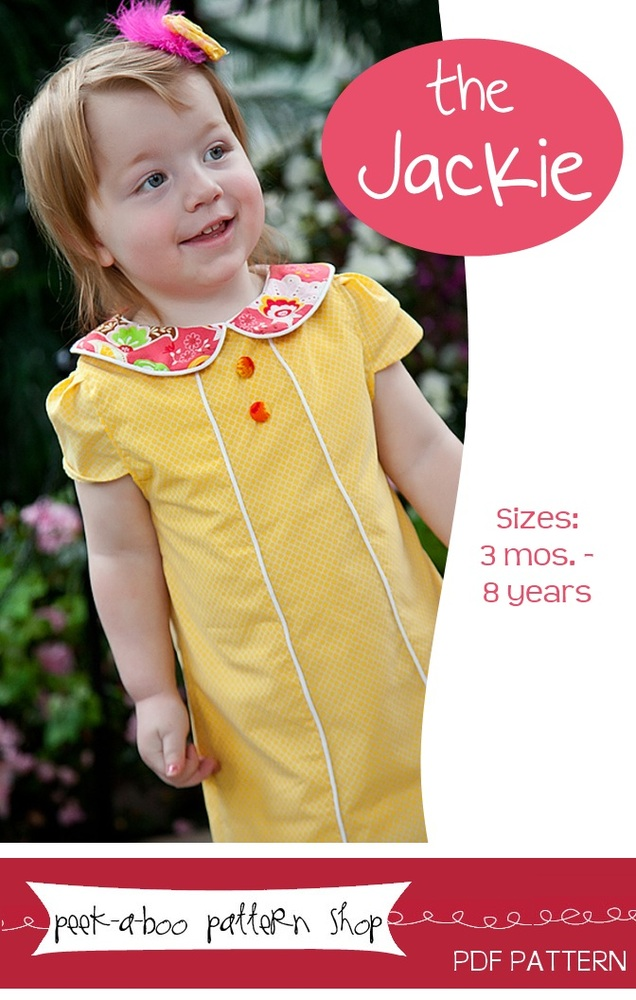 Peek-a-Boo Pattern Shop Jackie Dress Downloadable Pattern Jackie Dress