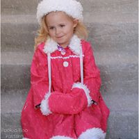 Peek-A Boo Victoria Fur Trim Hat and Muff Digital Pattern ( Size newborn - child )