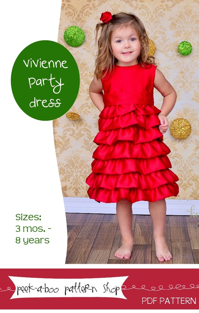 Peek-a-Boo Pattern Shop Vivienne Party Dress Downloadable Pattern Vivienne Party Dress