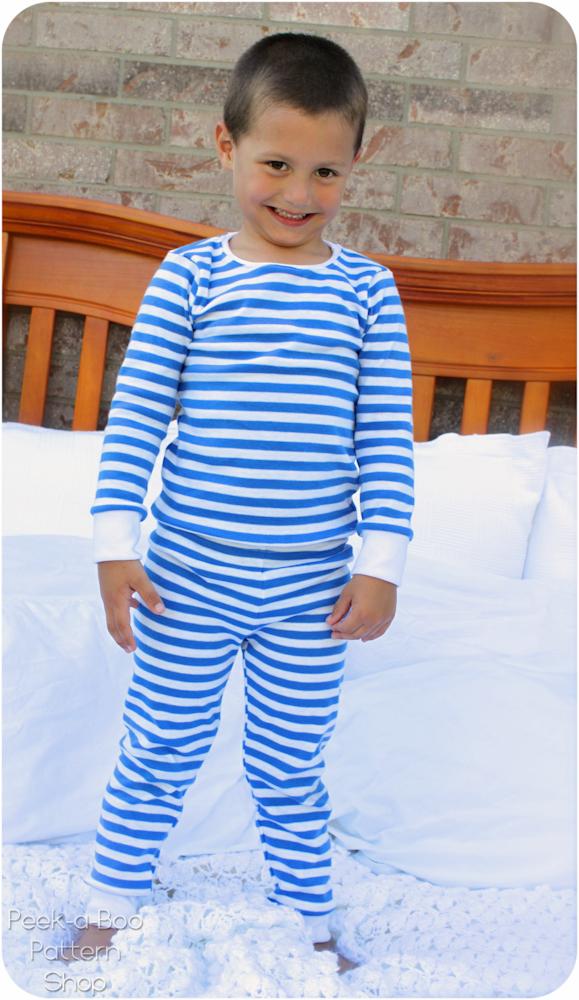 Peek-a-Boo Pattern Shop Winter PJs Downloadable Pattern Winter PJs