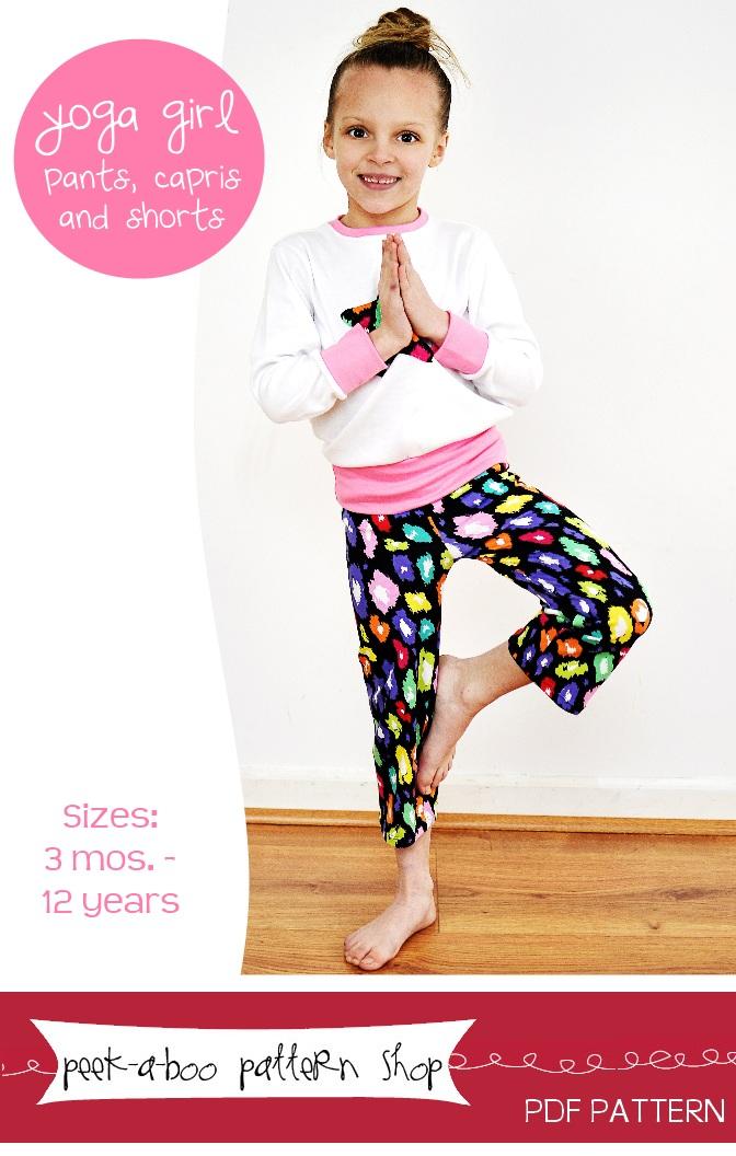 Peek-a-Boo Pattern Shop Yoga Girl Downloadable Pattern Yoga Girl
