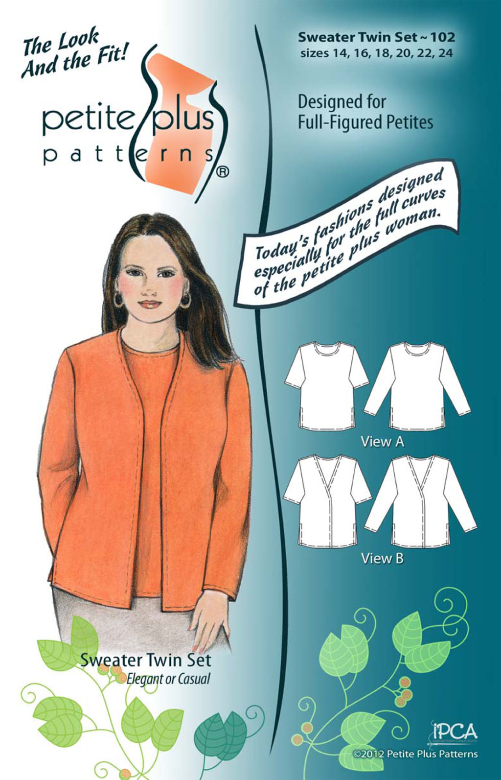 Petite Plus Patterns Sweater Twin Set 102