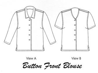Petite Plus Patterns Button Front Blouse 103