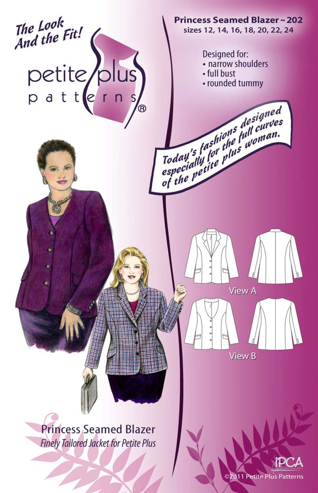 Petite Plus Patterns Princess Seamed Blazer 202