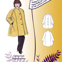 Petite Plus Patterns Swing Coat
