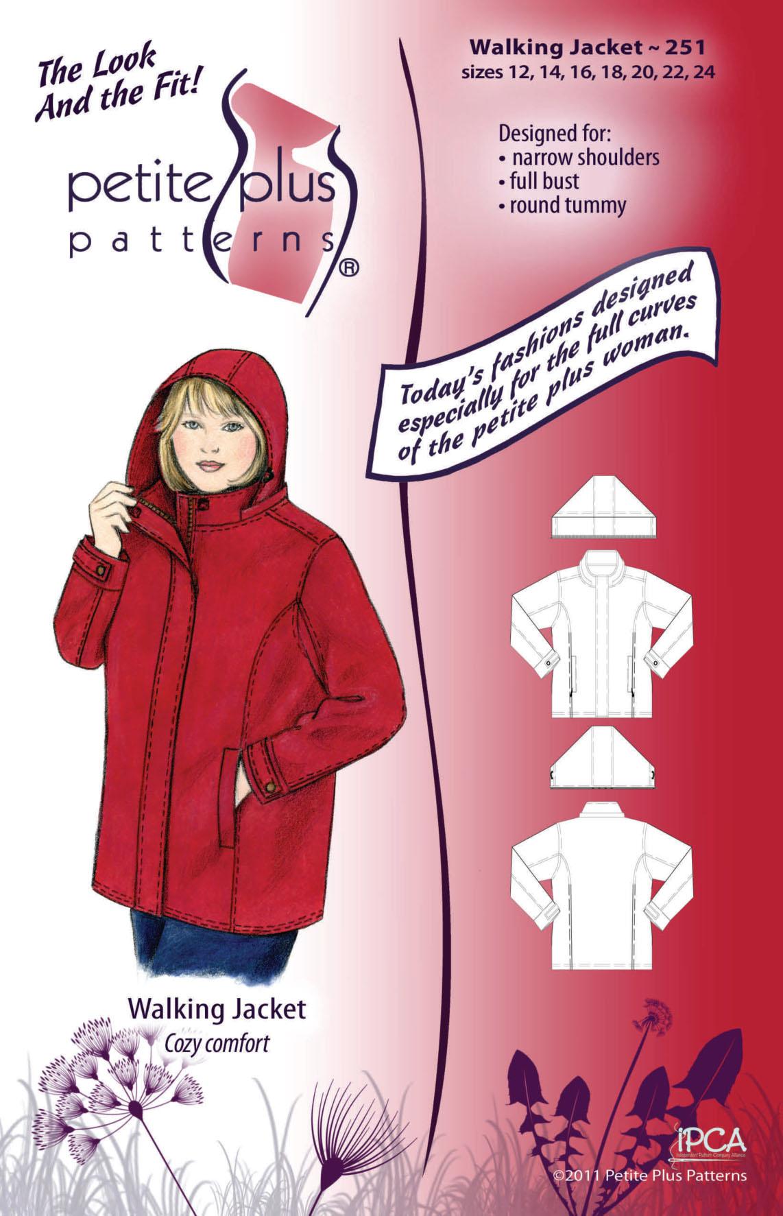 Petite Plus Patterns Walking Jacket 251