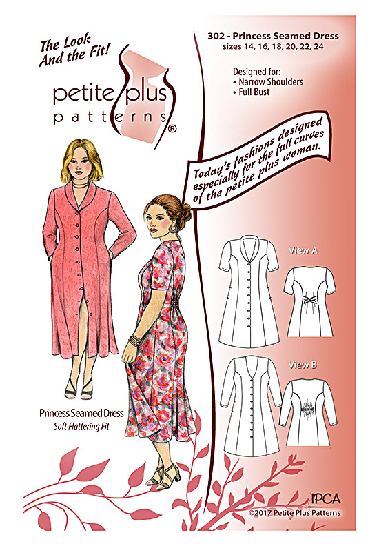 Petite Plus Patterns Princess Seamed Dress 302