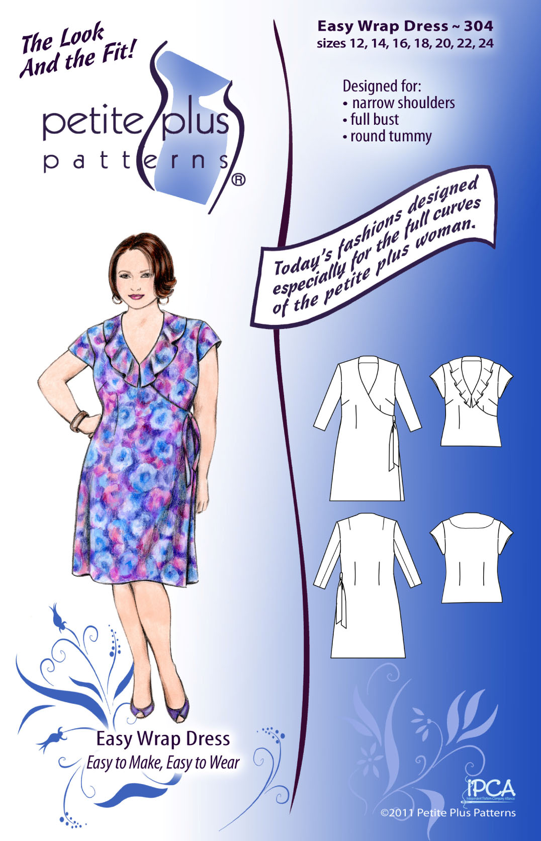 Petite Plus Patterns Easy Wrap Dress 304