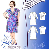 Petite Plus Patterns Easy Wrap Dress