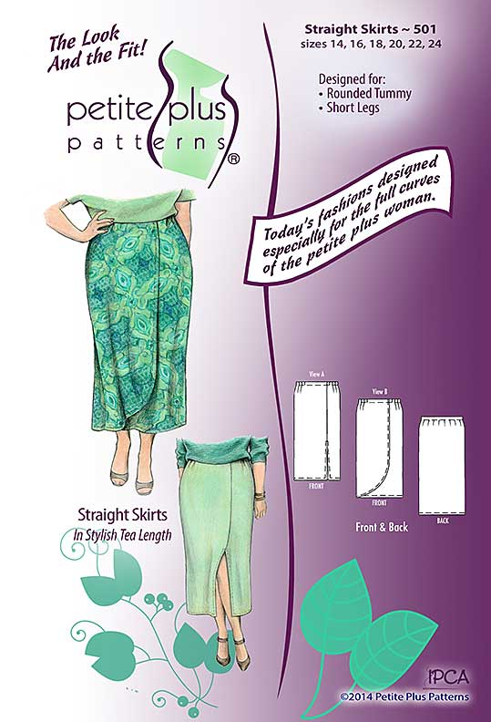 Petite Plus Patterns Straight Skirts 501