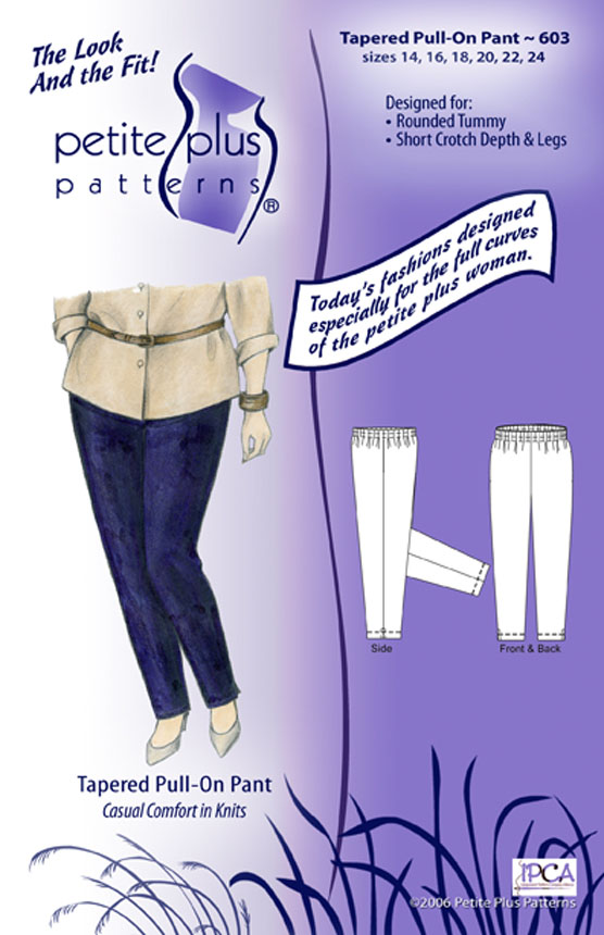 Petite Plus Patterns Tapered Pull-On Pant 603