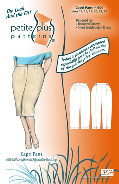 Petite Plus Patterns Capri Pant 604
