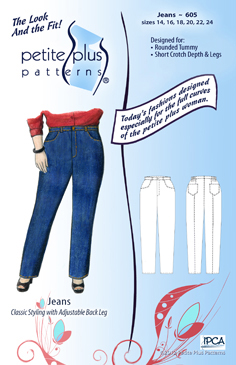 Petite Plus Patterns Jeans 605