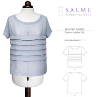 Salme Loose Fitting Pleated T-shirt Digital Pattern