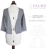 Salme Cropped Blazer Digital Pattern