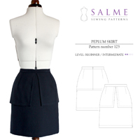 Salme Peplum Skirt Digital Pattern