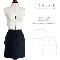 Salme Peplum Skirt Digital Pattern
