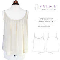 Salme Gathered Top Digital Pattern