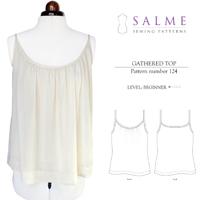 Salme Gathered Top Digital Pattern