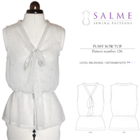 Salme Pussy Bow Blouse Digital Pattern