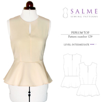 Salme Peplum Top Digital Pattern