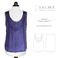 Salme Bib Top Digital Pattern