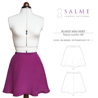 Salme Flared Mini Skirt Digital Pattern