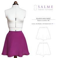 Salme Flared Mini Skirt Digital Pattern