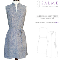 Salme Buttonless Shirt Dress Digital Pattern
