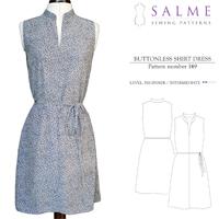Salme Buttonless Shirt Dress Digital Pattern