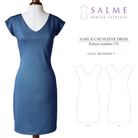 Salme V-Neck Cap Sleeve Dress Digital Pattern