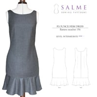 Salme Flounce Hem Dress Digital Pattern