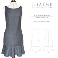 Salme Flounce Hem Dress Digital Pattern
