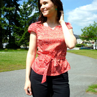 Sewaholic Patterns Alma Blouse