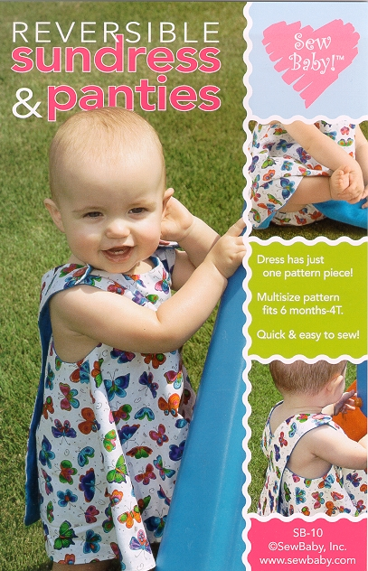 Sew Baby SewBaby One Piece Reversible Sundress Pattern 10