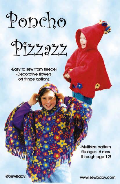 SewBaby  Poncho Pizazz Pattern
