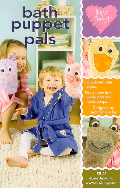 SewBaby Bath Puppet Pals Pattern