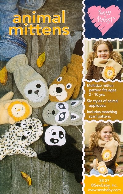 Sew Baby SewBaby Animal Mittens Pattern 27