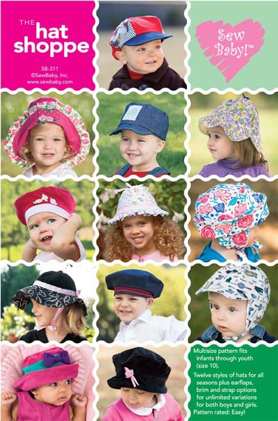 Sew Baby SewBaby The Hat Shoppe Pattern 311