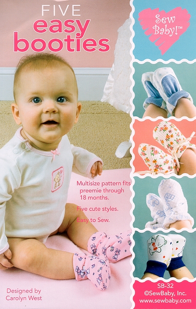 Sew Baby SewBaby Five Easy Booties Pattern 32